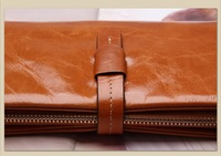 100% oil waxing cowhide Brand wallet genuine leather purse Women handbag high quality leather bag phone wallets 6 color