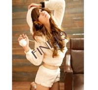 Женские толстовки и Кофты Women's Leisure set Cotton Wool Loose Comfortable Autumn Suit Long Sleeve Coat + Shorts Set New 7640