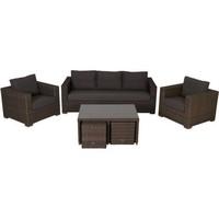 жизнь морей коричневой плетеной гостиной диван люкс с ярко-подушки