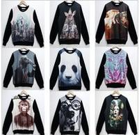 Женский топ 2013 Fashion New Women/Men Animal 3D Sleeveless t shirts tiger/wolf 3d Vest Tanks Tops Tees