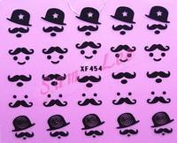 Наклейки для ногтей Retail ]! Bearded Mix Styles Nail Art Sticker, 20 Set/Lot