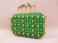 Детали и Аксессуары для сумок 10 USD PUEurope and diamond skull punk rivet chain bag clutch evening bag