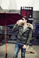 Мужской пуховик 2013 winter men BRAND Down Jacket Warm Coat Down Outwear Windproof Hooded Men's Parka Solid Color B-75