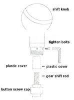 Автомобильные держатели и подставки Universal High Quality Metal gear shift knob/ Auto car Manual shift knob/ Silver manual shift knob