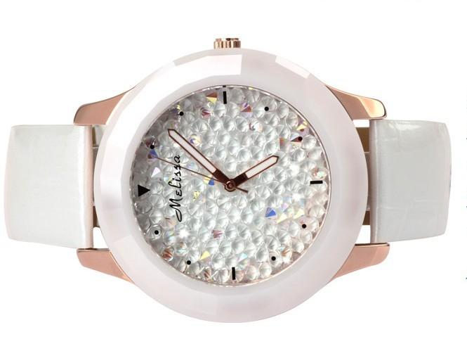 Melissa Lady Women's Wrist Watch Quartz Hours Best Fashion Jewelry Bracelet Brand Leather Girl Luxury Rhinestones Birthday Gift
