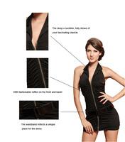 Женское платье New Sexy Halter Mini Dress With Belt LC2569