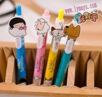 BP135 Wholesales Kawaii Cartoon ANIMAL GIRL ball pen/Korean Style Ball Pen/Novelty stationery free shipping!