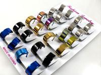 цвета смешанные 60pairs из нержавеющей стали серьги для мужчин много мода ювелирные изделия
