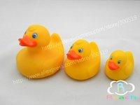Детская игрушка для купания T028 3pcs/set Rubber Bath Duck Toy Bath toy Non-Toxic Eco-friendly Duck Family