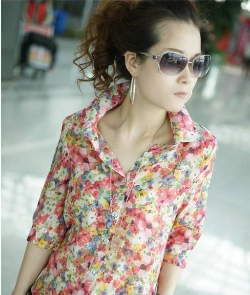 Простая Летняя Блузка Рубашка