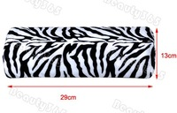 5pcs/Lot New Zebra Stripe Soft Hand Cushion Pillow Rest for Nail Art Manicure Half Column Free Shipping 4905