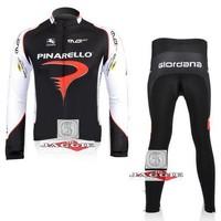Free shipping PINARELLO Giordana RT cycling Team wear clothes tights bicycle MTB Road bike long sleeve jerseys + pants sets
