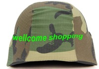 Tactical Airsoft M88 Helmet Cloth Cover Woodland Camo Free Shipping