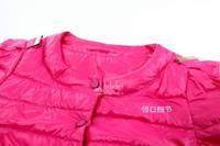 2013 New  Women's Autumn Winter Round Neck Long Sleeve Short Design Down Coat  Slim Fit Coat Five Colour Size S-XL Free Shipping