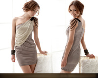 2013 new fashion gray for women, silk dresses, wedding dress, Chinese sweet style, free shipping.
