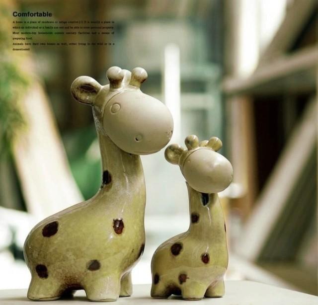 Поделки из глины жираф 72