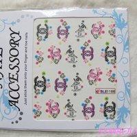 Наклейки для ногтей 20sheets/lot Mixed ble Series Cute Cartoon Water Transfer Sticker Nail art sticker
