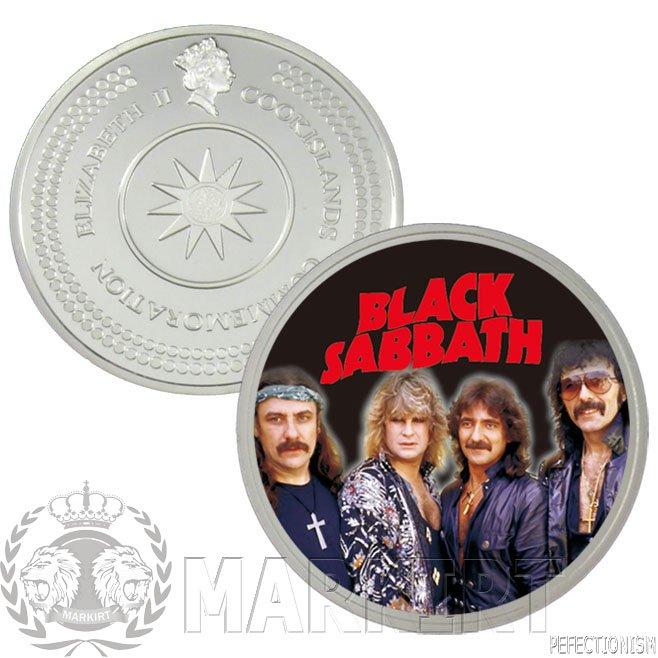 Black Sabbath Münze Münzset Coinset Silber Silver 6 Münzsen  Neu