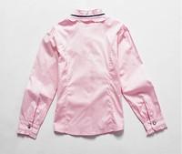 Блузка для девочек aones new design spring and autumn lace collar girls' blouse o-neck long sleeve sweety children's cotton blouse