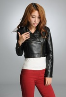 Женская куртка Olddays 2013 ZLQY-041 new arrive Spring women leisure black PU leather long-sleeved coat jacket cheap for sale