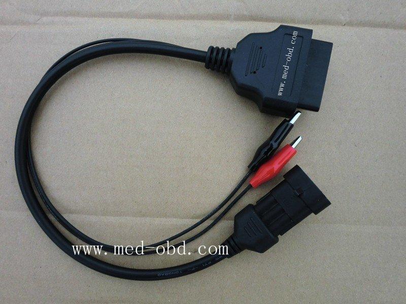 3PIN Fiat 3 Pin Alfa Lancia to OBD2 16Pin Adapter Cable