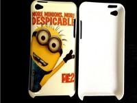 Потребительская электроника Cartoon Despicable Me Minions Hard Plastic Back Cover Case For iPod Touch 4 phone case