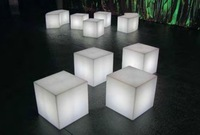 Пластиковый стул Hot LED furniture, led cube chair 43*43*43CM