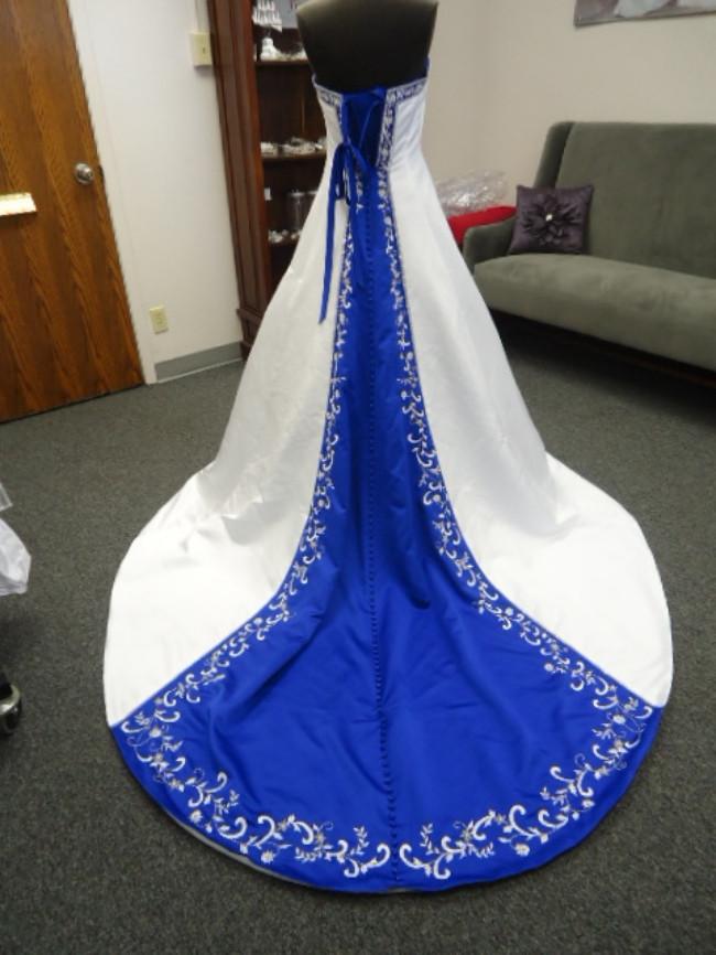 Wedding Dress With Royal Blue Train Wedding Gown Dresses