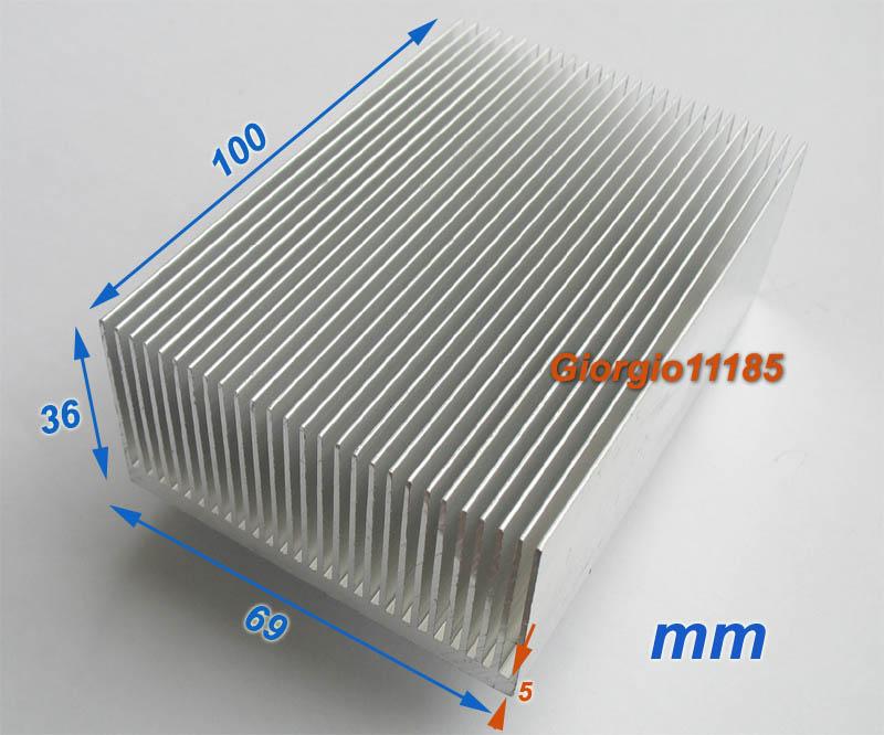 Как сделать алюминиевый радиатор для светодиодов