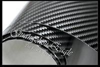 1.52*30m Glossy High Quality Black 2D Carbon Fiber Vinyl Calendared PVC Car Wrap  Film Free Shipping Wholesale