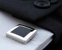 Запонки и зажимы для галстука Black square style Shirt cuff Cufflinks cuff links drop shipping for men's gift