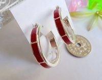 Modren fashion polished popular women's love earring set