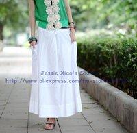Женская юбка s0005 black high quality women's fashion long skirt with pocket