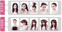 Вьющиеся пряди волос для наращивания fashion human hair black curly long wigs not lace front wigs