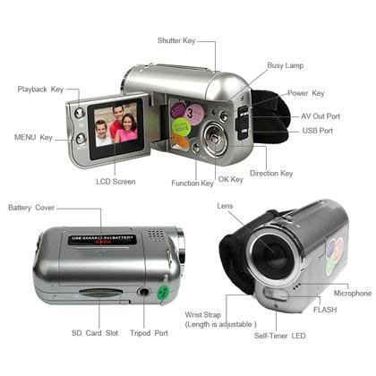 DV 136 3.1MP Mini Digital Video Camera Camcorder DV136