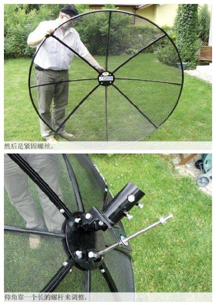 C Band 180cm 5 9ft Polar Mount Mesh Satellite Dish Prime