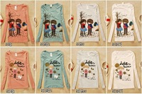 Одежда и Аксессуары 14pcs Mix Order! R Seires women girls Lovely cartoon printed T-shrit, T Shirts, Tops, Sweatshirts
