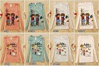 14pcs Mix Order! R Seires Wholesale women girls Lovely cartoon printed T-shrit, T Shirts, Tops, Sweatshirts