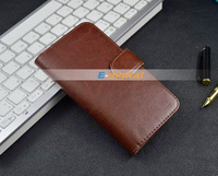 Crazy Horse pattern leather Wallet Case cover for Samsung Galaxy S Advance i9070 with stand+card holder+wallet,free shipping