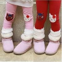 Леггинсы для девочек Hot sale cartoon leggings tights girls baby kids pants woolen thermal trousers 3 colors 5pcs/lot ship 570069J