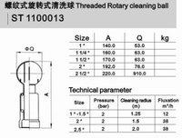 "3/4"" NPT Threaded Sanitary Tank Rotary Cleaning Ball"