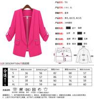 Женский костюм New Women's Sexy Sweet Suit Jacket women coat blazer Thin Slim Fit Long Sleeve Coat Blazers Female Rose Red&Black&Beige C9005