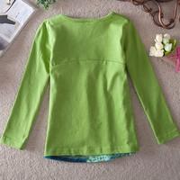 Футболка для девочки 2014 children's wear children's spring girls long sleeve cotton T-shirt C186