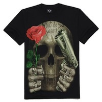Мужская футболка 4.66$ FedexMetal personalized hiphop non-mainstream male 3dt shirt KL-123