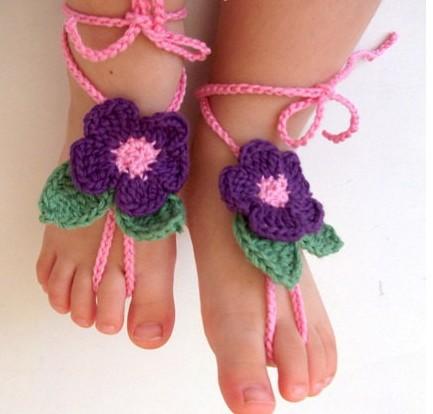 Como hacer sandalias tejidas para pies descalzos - Imagui