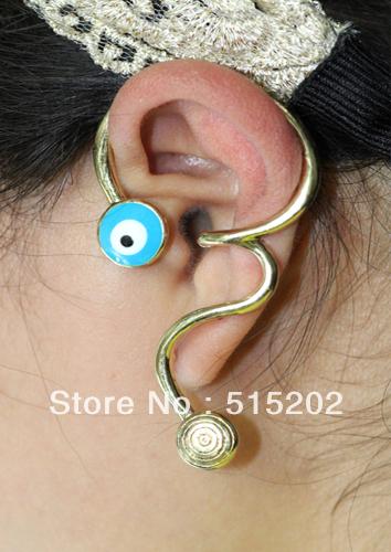 Wholesale earring fashion evil eye ear cuff punk s...