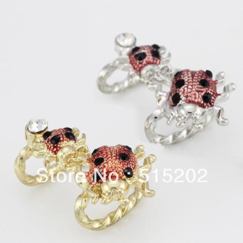 Wholesale earring fashion punk style ladybug cryst...
