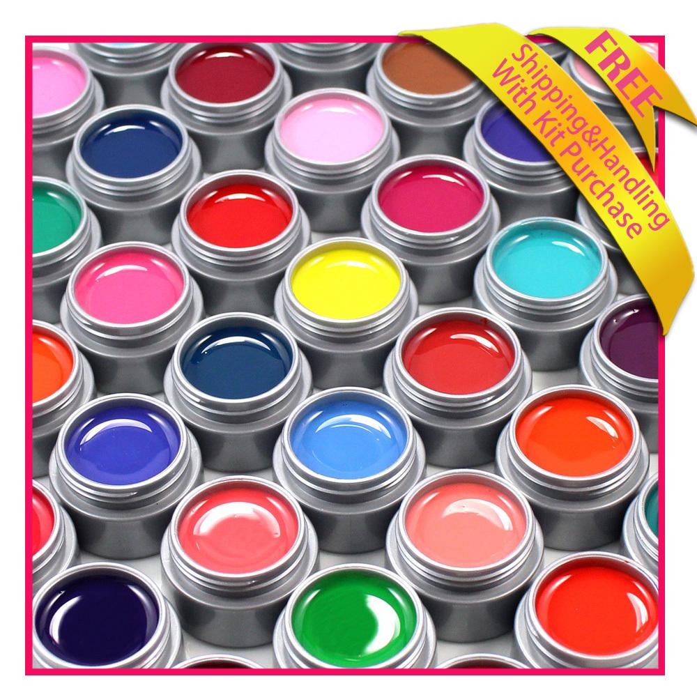 Color uv nail art gel 12 multi - colors uv gel se...