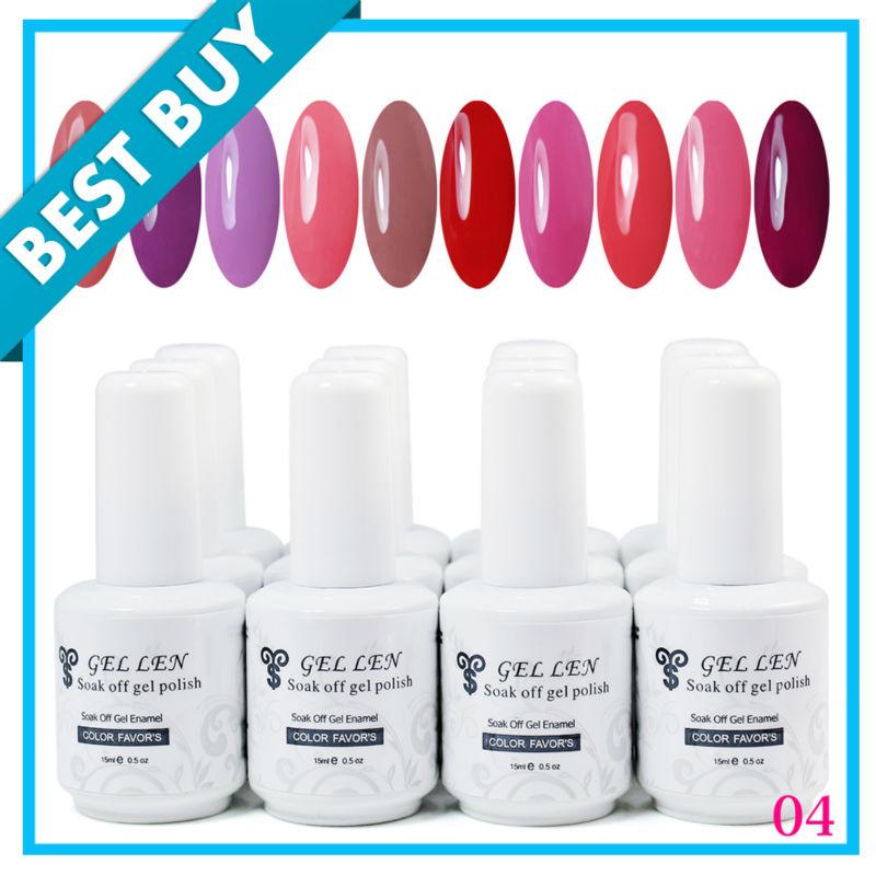 Free Shipping! Soak Off UV Nail color gel polish ...