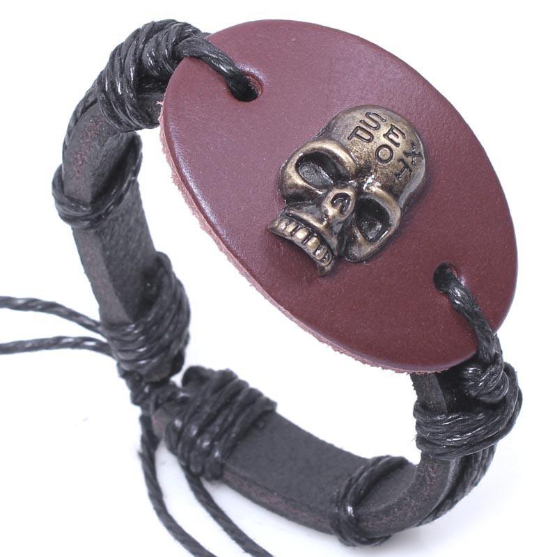 Браслеты & Браслеты свастика ручной серпантином титана стальной кожаный браслет мужчин qnw6078